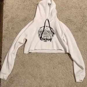 Annie Leblanc cropped hoodie